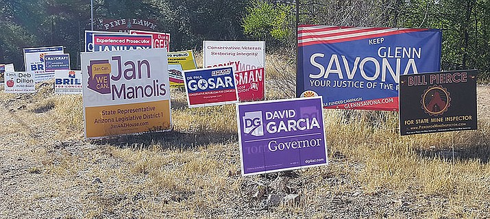 The mid-term elections have brought a plethora of signs onto the local roadside landscape. (Courier file)