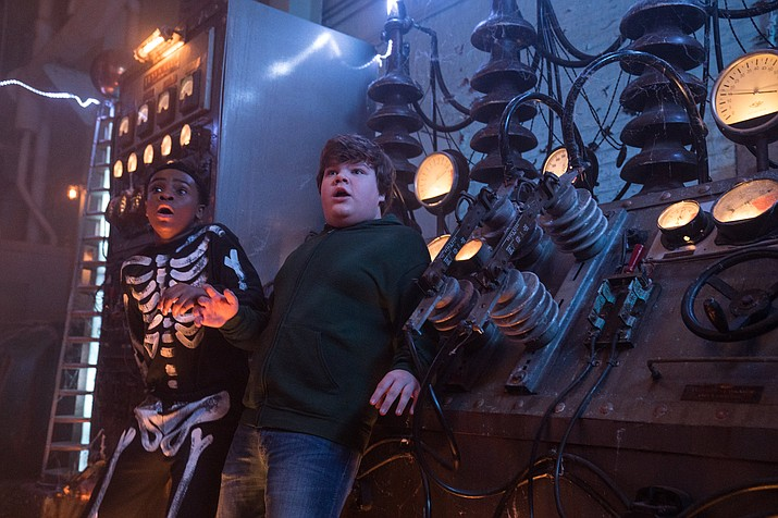 "Caleel Harris, left, and Jeremy Ray Taylor in ""Goosebumps 2: Haunted Halloween."" (Daniel McFadden/Columbia Pictures)"