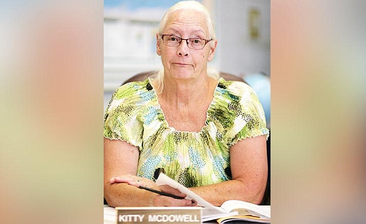 Yavapai County School Superintendent Tim Carter is soliciting candidates to replace Kitty McDowell, pictured, who has chosen to not run for reelection to Camp Verde Unified School District's governing board. VVN/Bill Helm