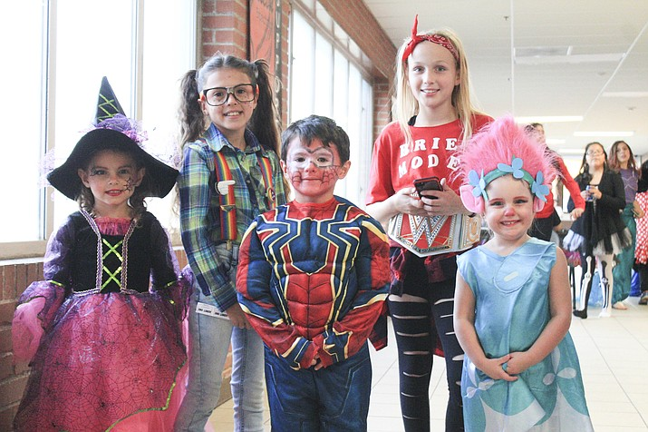 Dressed in their Halloween best, students, parents and faculty enjoy the 2018 Fall Carnival at Williams-Elementary Middle School in Williams Oct. 25. (Loretta Yerian/WGCN)