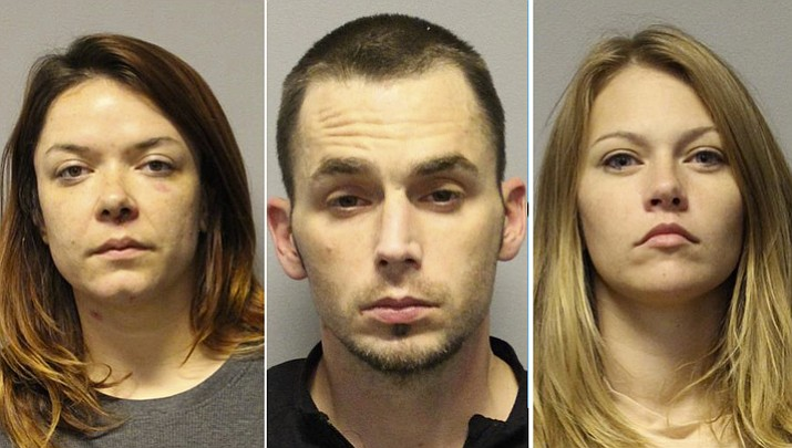 Kaila Van Orden, Adam Hale and Rachel Fools were all arrested on drug charges in late October after Van Orden reportedly overdosed on heroin outside Hale's and Fools's Cornville home.