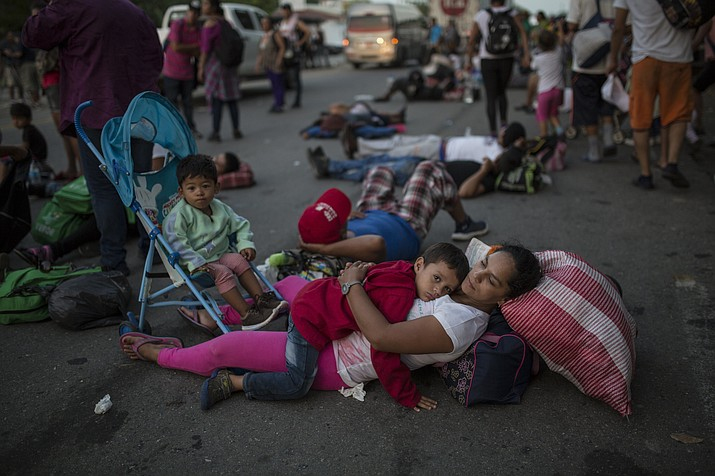In Migrant Caravan Kids And Parents Struggle With Long Trek