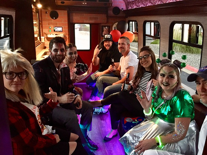 Troy Howard has started a business called Northern Arizona Party Bus, where he provides transportation to groups for special events or who simply need a designated driver. (Courtesy)