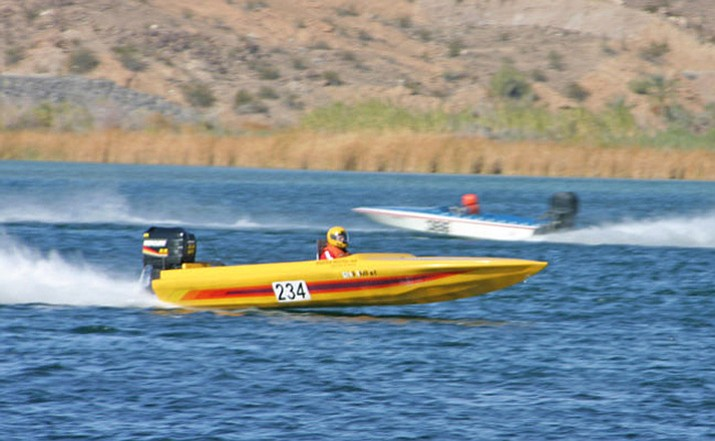 Kevin Taylor's No. 234 was a familiar sight at the Parker boat races. (Courtesy via Today's News-Herald)