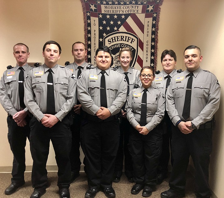 The graduating class included Alicia Carey, Victoria Nowicki, Lara Kelly, Wyatt Ahrens, Daniel Stone, Ian Smith, Cyrus Eckhaus, and Noe Orozco. (MCSO photo)