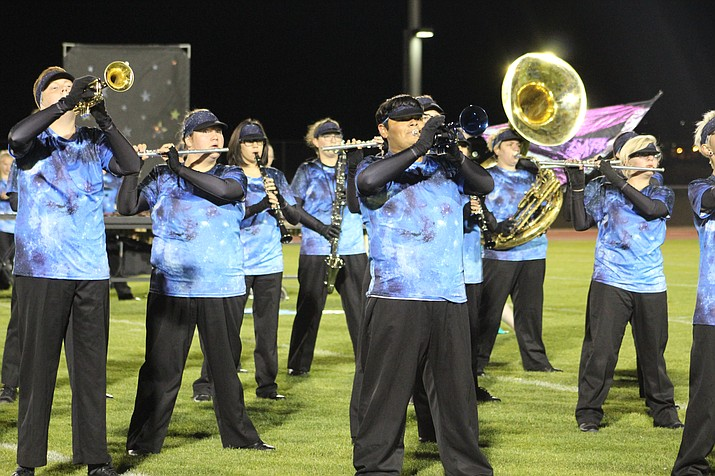 Kingman High School is going to the state championships Nov. 17.The band qualified to compete at the state level, where only 8 bands make it to state. (Photo by Vanessa Espinoza/Daily Miner)