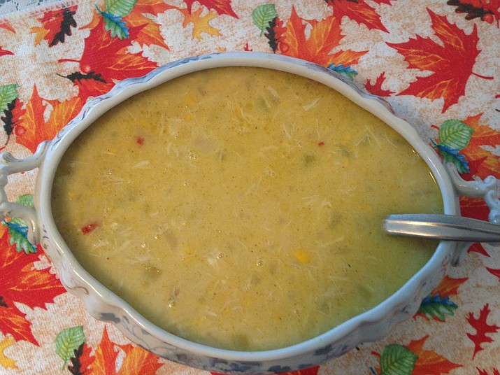 Crab-Corn-Potato Soup is a good dish for for fish and seafood lovers. (Diane DeHamer/Courtesy)