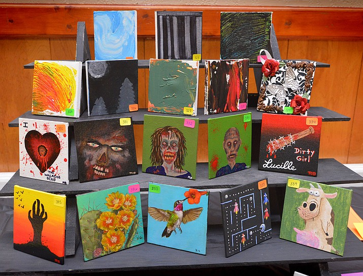 The Winslow Art Council's Big Tiny Art Show took place Nov. 3 at Winslow Elks Club Hall. (Todd Roth/NHO)