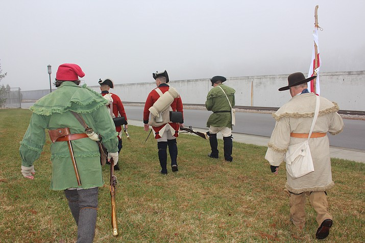 Re-enactors demonstrate Hamilton's march at George Rogers Clark National Historical Park. (Photo/NPS)