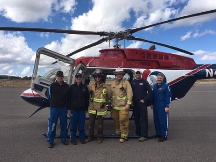 On Oct. 20, Guardian Helicopter landing zone training took place at Williams Airport with Williams Fire Department. The training was sponsored by Northern Arizona Fire Association. (Submitted photo)