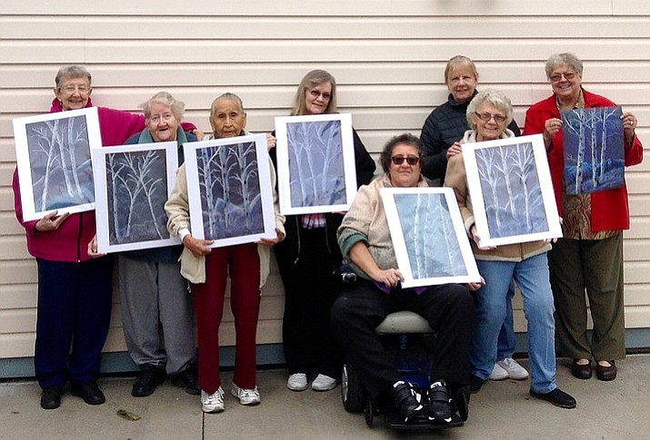 Artists from St. Agnes apartments display their 2017 artwork. (Photo/Bonnie Dent)