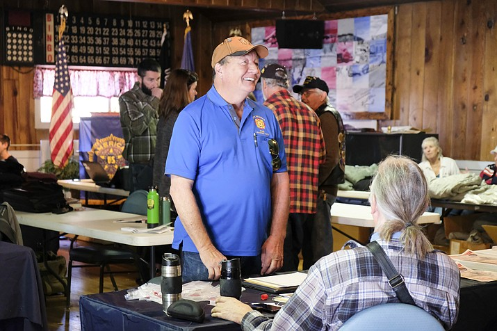 American Legion Cordova Post 13 partnered with High Country Stand Down in Flagstaff to bring cold weather gear to homeless and at-risk veterans in Williams Oct. 31. (Loretta Yerian/WGCN)