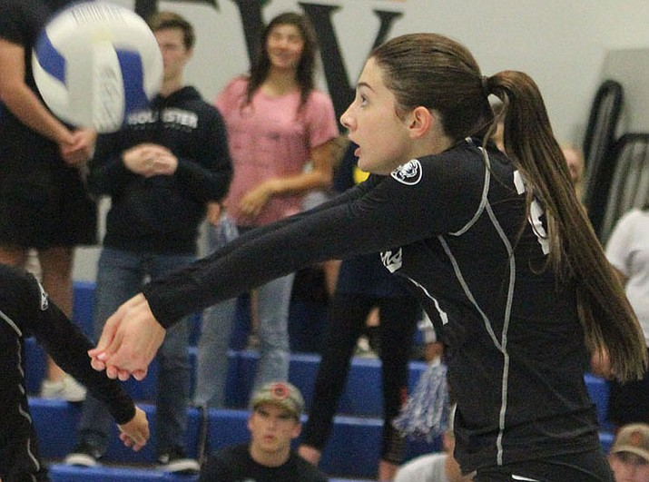 Isabella Anderson led Kingman Academy with 222 kills in her senior campaign. (Daily Miner file photo)