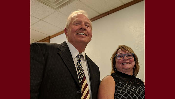 Ken Watkins (left) and Deana Nelson will join SueAnn Mello Keener on Kingman's next City Council. (Photo by Travis Rains)