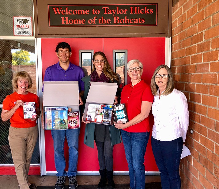 Pictured from left to right: Jan Manolis, (DWPA board member), Taylor Hicks teachers Mr. Folkers and Ms. Runyan, Jo Craycraft (DWPA board member) and Kari Hull (Chairwoman of DWPA).