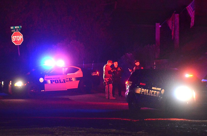 YCSO deputies, assisted by the Cottonwood Police Department and DPS, established a perimeter around the 700 block of Desert Jewel Drive due to a barricaded suspect inside a home. Earlier Wednesday evening, the suspect fired shots from the home. VVN/Vyto Starinskas