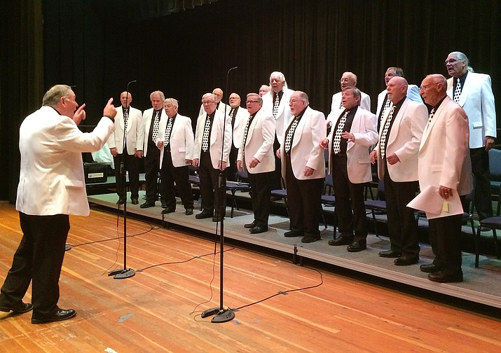 Members of the High Mountain Chordsmen rehearse Nov. 1 31 for the upcoming Best of Barbershop concert that takes place at 2 p.m. Nov. 10, at Prescott Mile High Middle School.