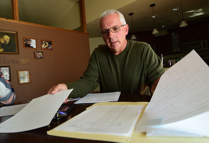 Don Devendorf, a professional firefighter for 35 years, had his Workmen's Comp claim for bladder cancer denied for what he considers arbitrary reasons. (Les Stukenberg/Courier)