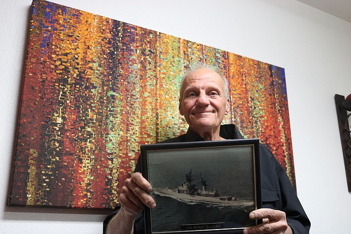 When Bob Schlachter graduated from a New Jersey high school in 1971, he didn't go off to college. He was headed to the U.S. Navy to serve his country in the Vietnam War.  (Photo by Travis Rains/Daily Miner)