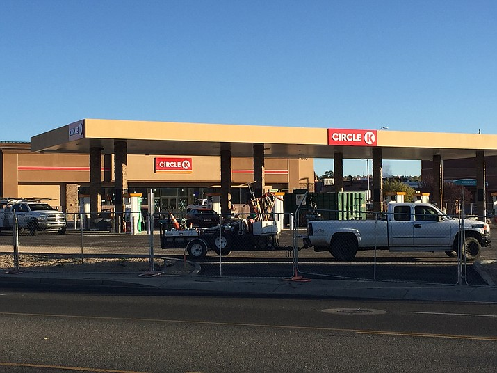 The Circle K being built at the intersection of Willow Creek and Iron Springs roads is nearly complete. (Max Efrein/Courier)