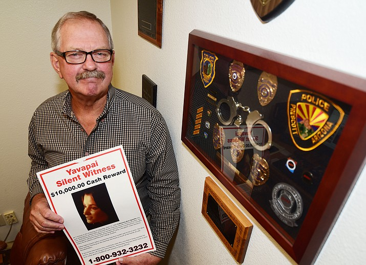 Director of Silent Witness for Yavapai County Steve Skurja will be retiring next month after 46 years in law enforcement and 34 years as the director of Silent Witness. (Les Stukenberg/Courier)