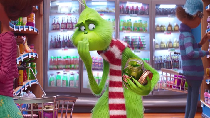"""""""Dr. Seuss' The Grinch"""" sledded past mixed reviews and made off with $66 million for Universal Pictures to top the weekend North American box office, according to studio estimates Sunday."""