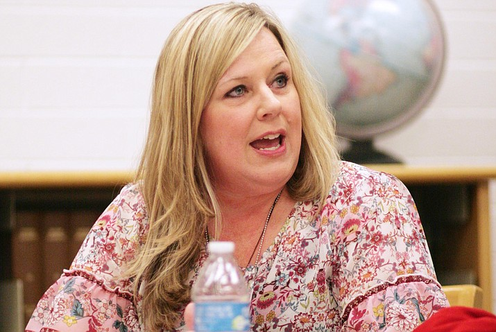 "Mingus Union Principal Genie Gee said that ""effective communication with the Mingus team and the board members, and maintaining community partnerships"" are her immediate priorities as the district's acting superintendent. VVN/Bill Helm"