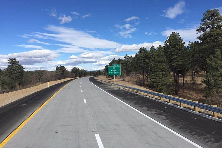 New pavement has been completed for the winter on a stretch of Interstate 40 near Williams. (Photo/ADOT)