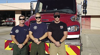 Area firefighters lend aid to California wildfire victims photo