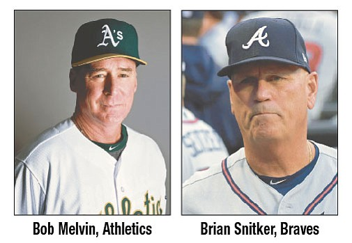Oakland's Melvin, Atlanta's Snitker voted top managers