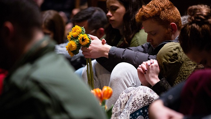 Mourners gathered Oct. 27 in Pittsburgh after the Tree of Life synagogue shooting. (Photo by Governor Tom Wolf, CC BY 2.0, via Wikimedia Commons)