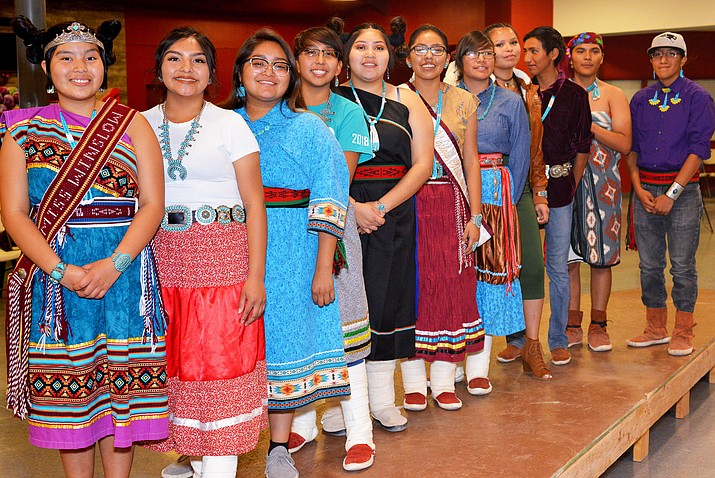 Contestants vie for top honors during the Native American pageant. (Todd Roth/NHO)