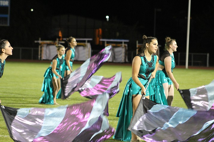 "Kingman High School marching band performed ""Under the Stars"" during the Mohave County Marching Exhibition Nov. 1. Recently they brought home third place after competing Saturday at the Arizona Marching Band Association in Gilbert. (Daily Miner file photo)"