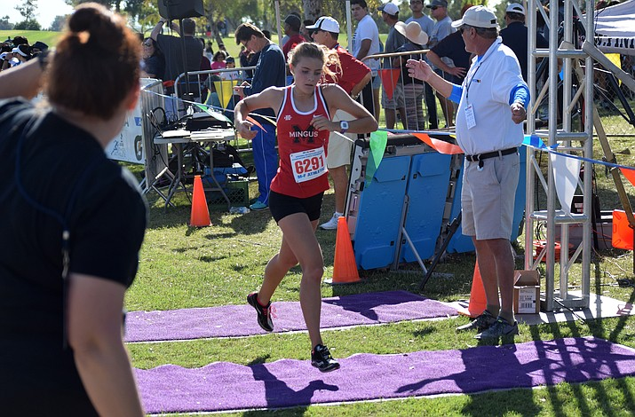 Mingus senior Meg Babcock finished 94th at the state cross country meet on Saturday at Cave Creek Golf Course in Phoenix. VVN/James Kelley