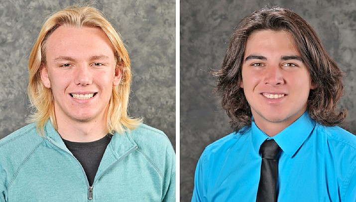 The deaths of 19-year-olds Gunner Bundrick, left, and Jake Morales have been ruled an accidental overdose of illicit drugs and fentanyl intoxication, according to a Yavapai County Medical Examiner report. Both men were 2017 graduates of Bradshaw Mountain High School, and heavily involved in athletics. (Courier file photos)