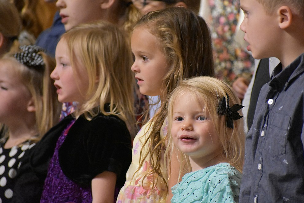 "A children's choir from The Church of Jesus Christ of Latter-day Saints performs during the 2018 Celebration of Thanks concert held Thursday, Nov. 15 at St. Luke's Episcopal Church in Prescott. The annual event, called ""Many Voices of Thanks,"" brings together choirs, musicians, dancers and speakers from many faith beliefs and is sponsored by the Quad City Interfaith Council. (Richard Haddad/WNI)"