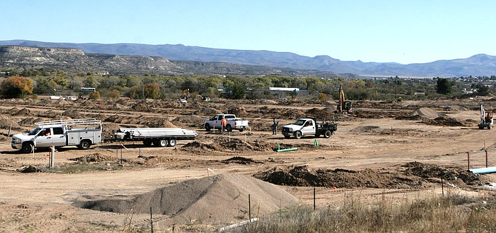A 400-plus space recreational vehicle park being built at SR 260 and I-17 in Camp Verde is expected to be completed by May 2019. VVN/Bill Helm