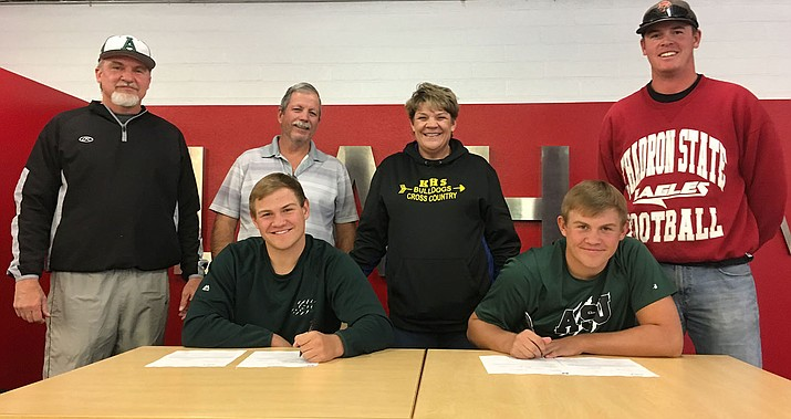 Matt and Mike Bathauer will continue their baseball career at Adams State with former Volunteer Paul Giglio. (Photo by Beau Bearden/Daily Miner)