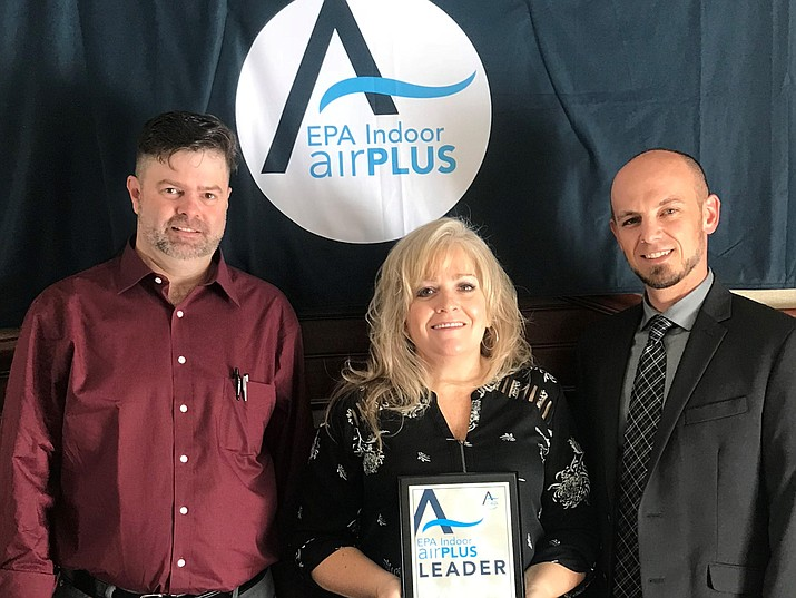 C&B Construction has earned the EPA indoor airPLUS Leader Award for the fifth consecutive year from the  Environmental Protection Agency. C&B Construction also won the Department of Energy Housing Innovation Award for 2018, both awards are nationally recognized. C&B Construction was previously owned by Laurie and Bill Bullock and is now owned by Chris and Rachel Spannagel. Courtesy photo/ C&B Construction