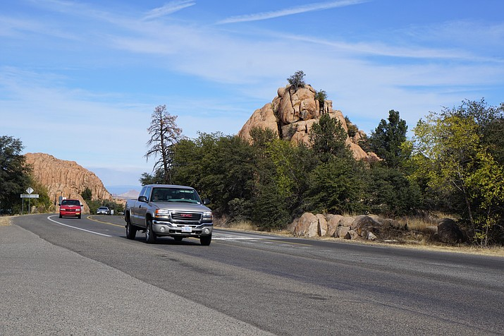 Highway 89 through the Granite Dells. (Cindy Barks/Courier)