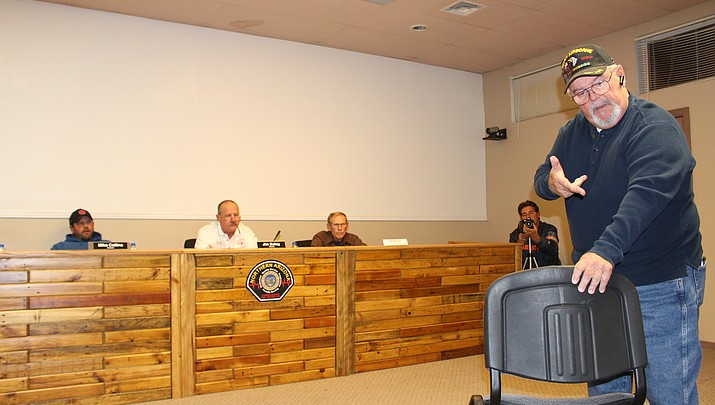 Fire district board  pushes public out of room for closed meeting