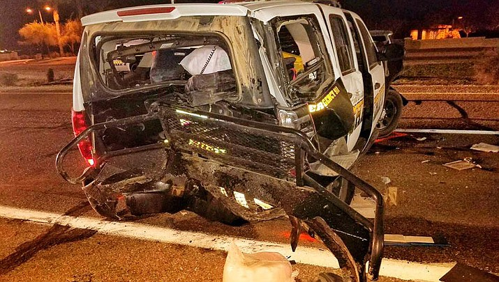 Dodge pickup slams into Pinal County deputy