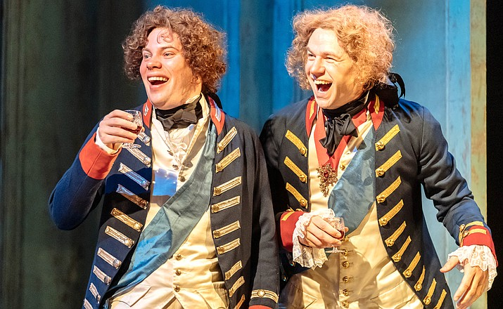 "The multi-award-winning drama ""The Madness of George III"" will be broadcast to cinemas in National Theatre Live's first ever broadcast from Nottingham Playhouse. The cast of this new production includes Olivier Award-winners Mark Gatiss in the title role, and Adrian Scarborough."