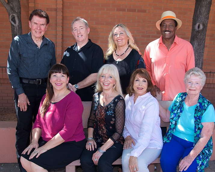 From left standing, Tom Jepperson, Brad Roberts, Jeanie Carroll, Sammy Davis. From left, sitting, Teri Bayes, Shondra Jepperson, Lisa Glinsky, Gale Grove.