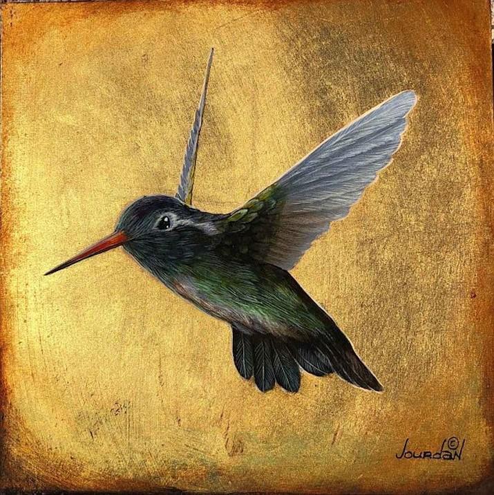 """""""White Eared Hummingbird"""" by Jourdan Dern"""