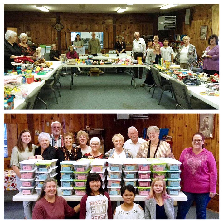 The Community United Methodist Church hosted the Williams' community box packing for sick children at The Children's Health Center of Flagstaff Medical Center. (Submitted photo)