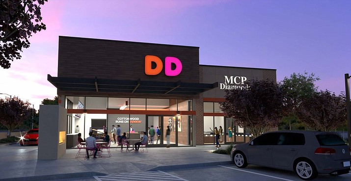 The proposed 3,300-square-foot building will be constructed on a vacant lot at 1006 S. Main Street. It will be Cottonwood's first-ever Dunkin' Donuts.