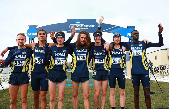NAU men's cross country won their third straight national championship on Saturday in Madison, Wisc. Photo courtesy NAU