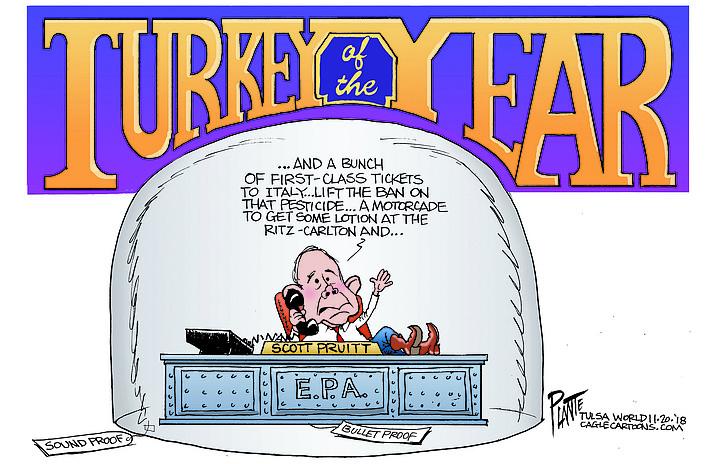 Editorial cartoon (1): Nov. 23, 2018