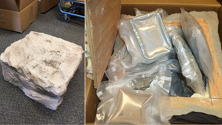Police in Oregon discovered nearly $1 million worth of marijuana hidden inside fake plastic rocks for shipment out of the state. (Springfield Police Department )